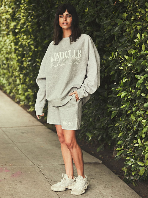 Brunette The Label The Kind Club Not Your Boyfriends Sweater Classic Grey