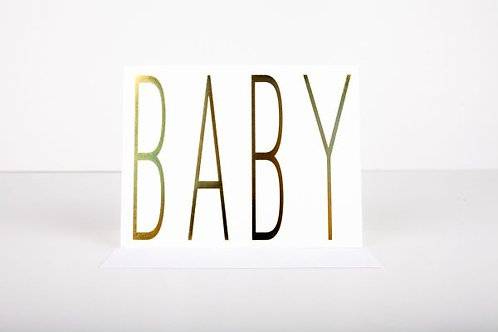 Wrinkle and Crease Baby Greeting Card