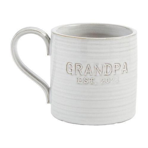 Mudpie Grandpa Est. 2021 Mug