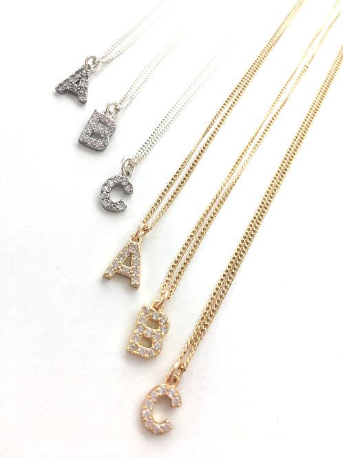 Jocelyn Kennedy Crystal Alphabet Necklaces