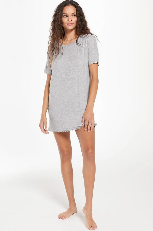 Z Supply Girlfriend Rib Dress Heather Grey