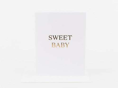 Wrinkle and Crease Sweet Baby Card
