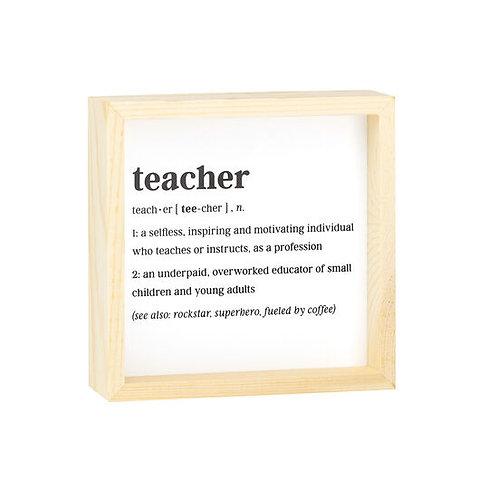 Teacher Definition Sign
