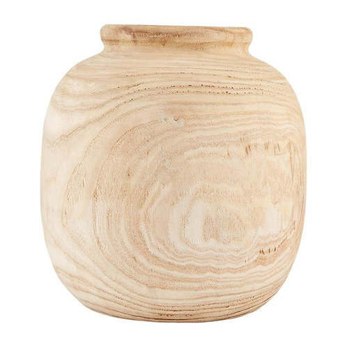 Large Paulownia Wood Vase