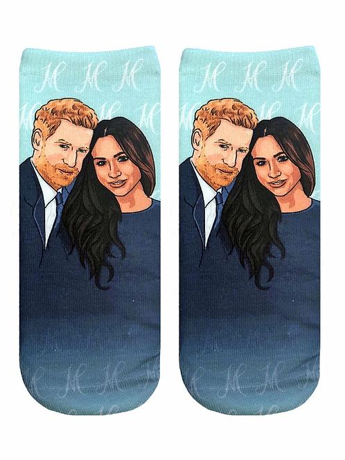 Living Royal Harry And Meghan Ankle Socks
