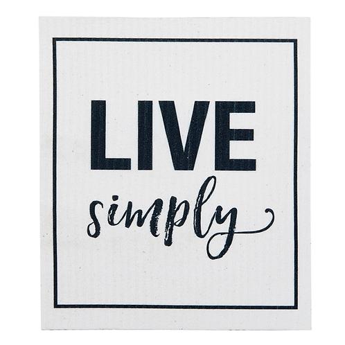 Live Simply Organic Dish Cloth