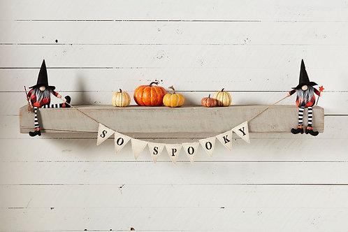 So Spooky Halloween Gnome Banner