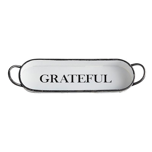 Oval Grateful Tray