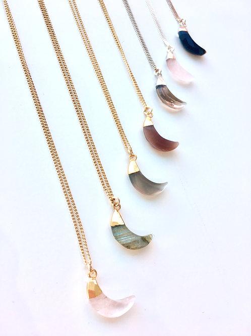 Jocelyn Kennedy Stone Moon Necklace