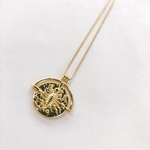 Jocelyn Kennedy Zodiac Sign Necklace- Gold Scorpio