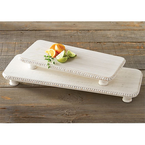 Mudpie Beaded Serving Board Set of Two