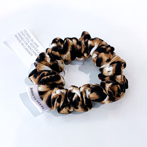 Tessa Glorie Slim Leopard Scrunchie