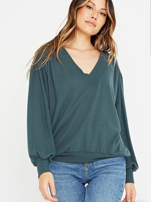 Project Social T The Distance Between Cozy V Neck Forest