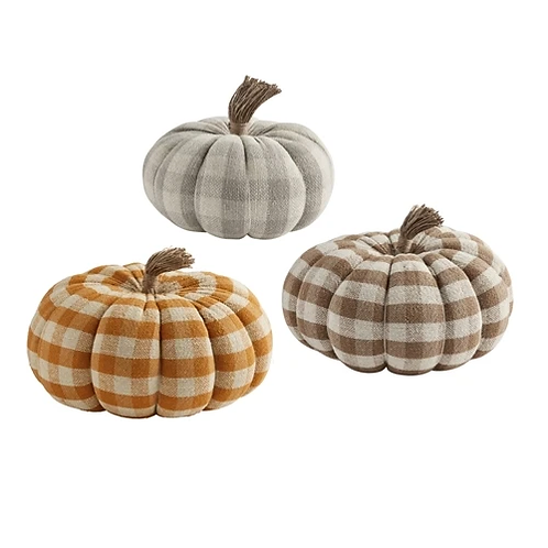 Mudpie Buffalo Check Pumpkins