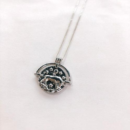 Jocelyn Kennedy Zodiac Sign Necklace- Silver Taurus