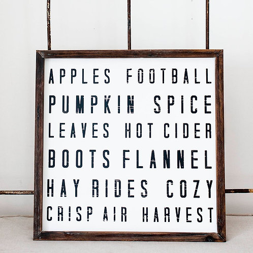 Sweet Water Decor Fall Words Wood Sign