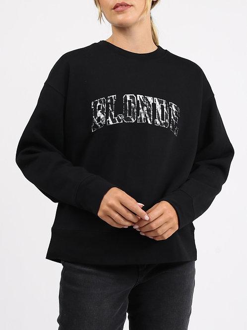 Brunette The Label BLONDE Zebra Step Sister Crewneck Sweatshirt