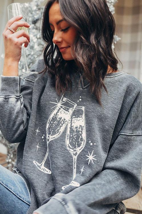 Friday + Saturday: Champagne Toast Campus Crew Sweatshirt
