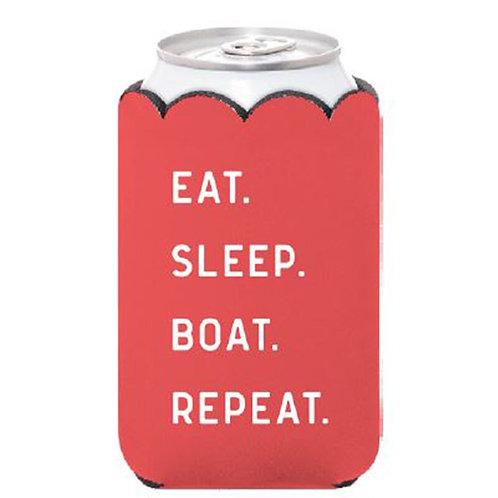 Eat. Sleep. Boat. Can Koozie