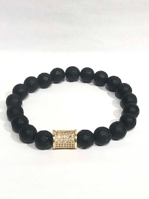 Jocelyn Kennedy Semi Precious Stone Crystal Charm Bracelet