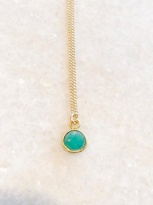Jocelyn Kennedy Green Onyx Necklace