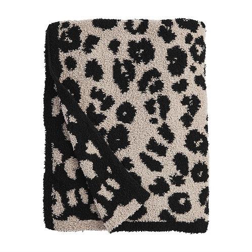 Leopard Throw Blanket-Tan