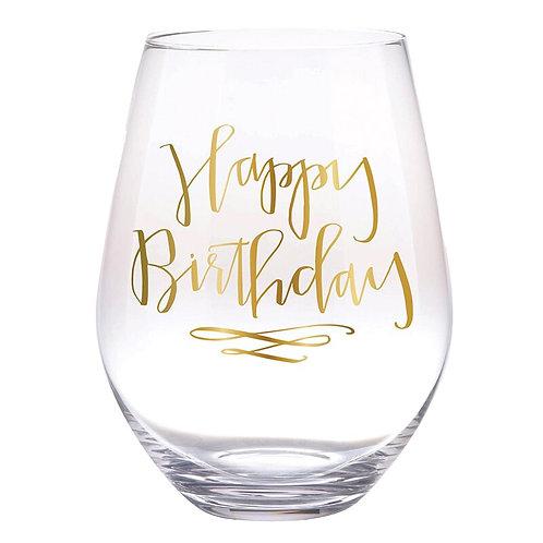 Happy Birthday Jumbo Glass