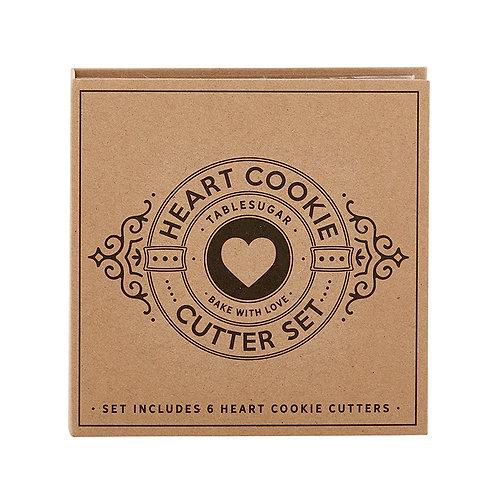 Cardboard Book Set Heart Cookie Cutters