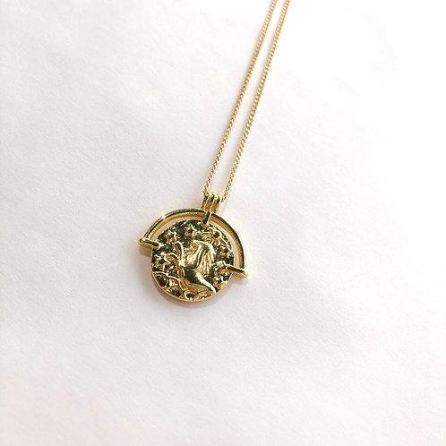 Jocelyn Kennedy Zodiac Sign Necklace- Gold Leo