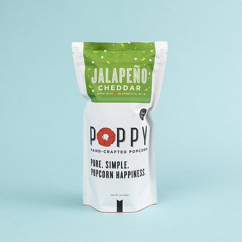 Poppy Jalapeno Cheddar Popcorn