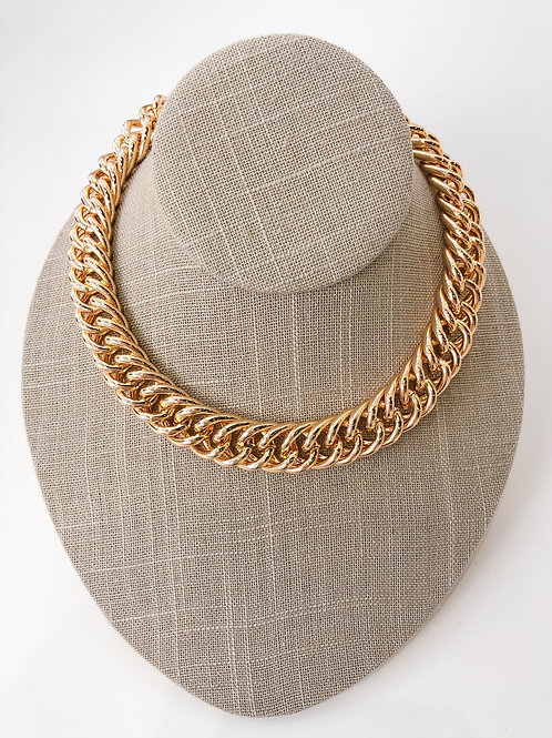 "Jocelyn Kennedy 16"" Chunky Chain Necklace- Gold"