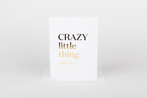 Crazy Little Thing Called Love Card