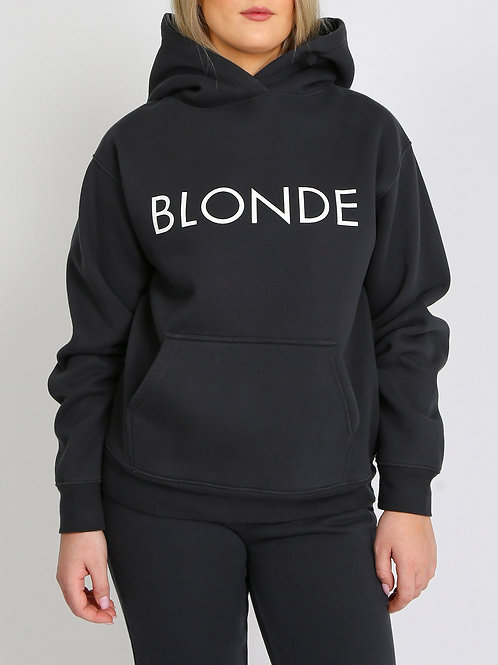 Brunette The Label The Blonde Classic Hoodie Charcoal