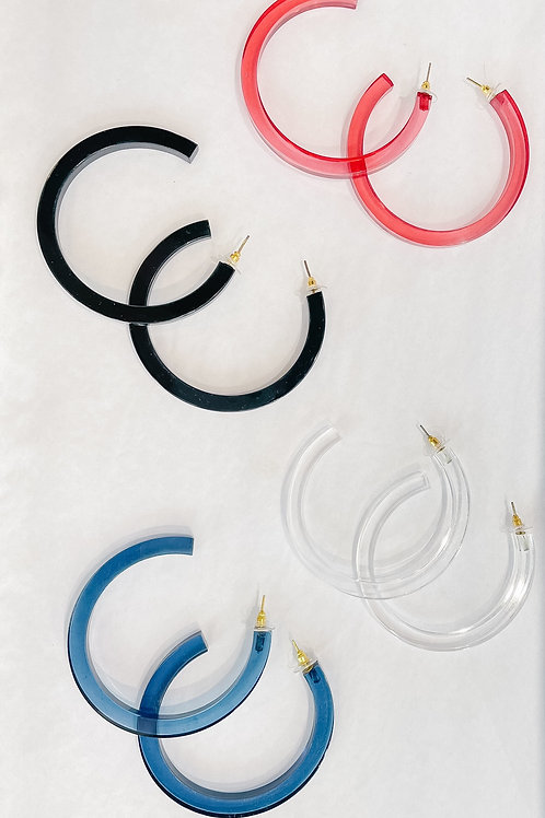 Large Lucite Hoops