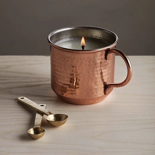 Thymes Simmered Cider Copper Cup Candle