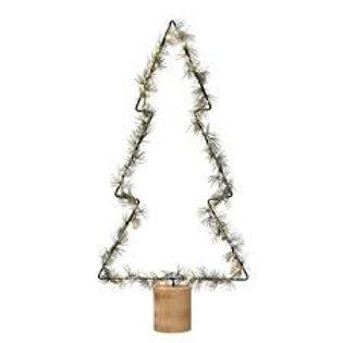 LED & Faux Lit Pine Wrapped Tree