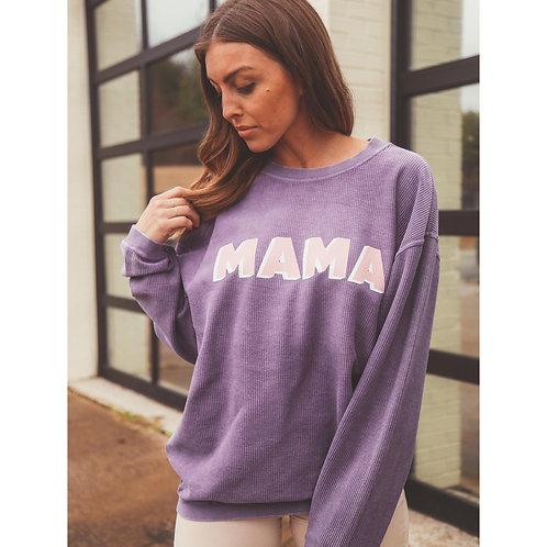 Friday + Saturday Mama Purple Corded Sweater