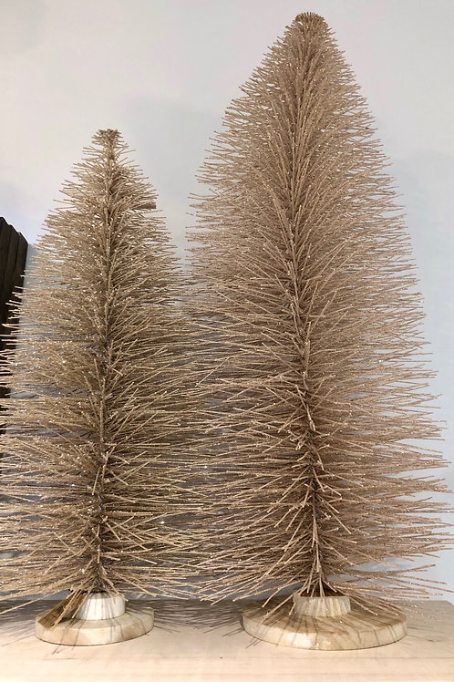 Champagne Bottle Brush Tree