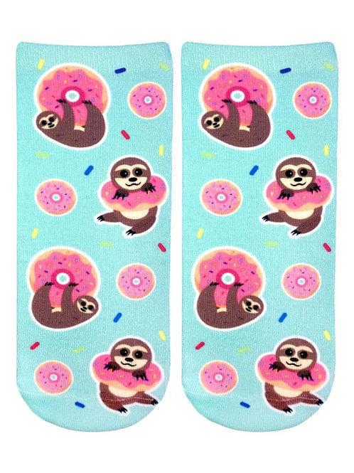 Living Royal Sloth Doughnut Ankle Socks