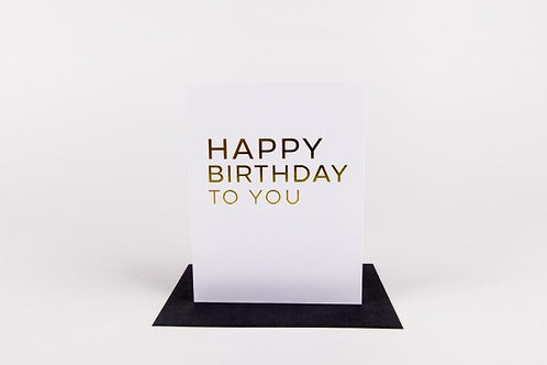 Wrinkle and Crease Happy Birthday To You Greeting Card