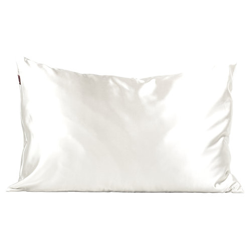 Kitsch Standard Satin Pillow Case- Ivory