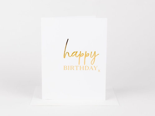 Wrinkle and Crease Happy Birthday X Card