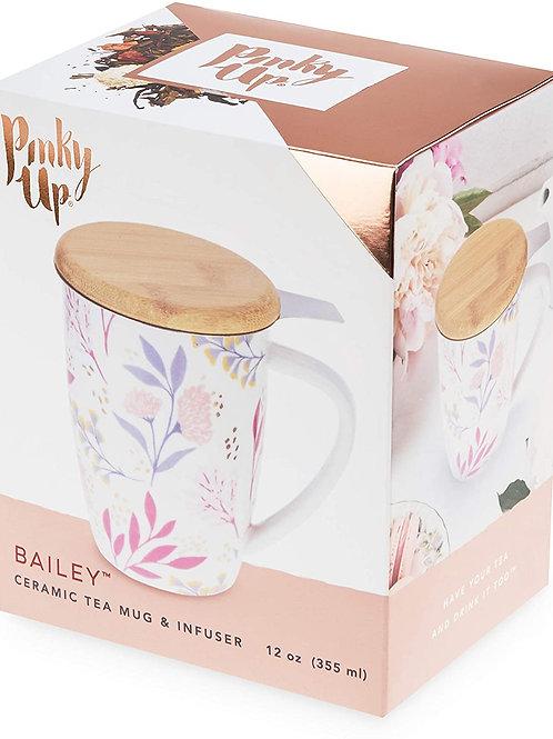 Pinky Up Bailey Ceramic Tea Mug & Infuser