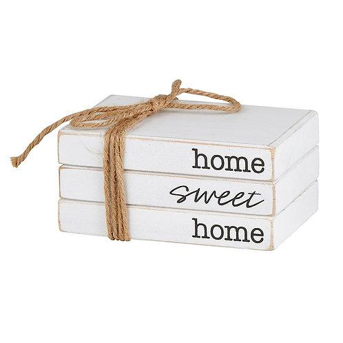 Wooden Book Block - Home Sweet Home