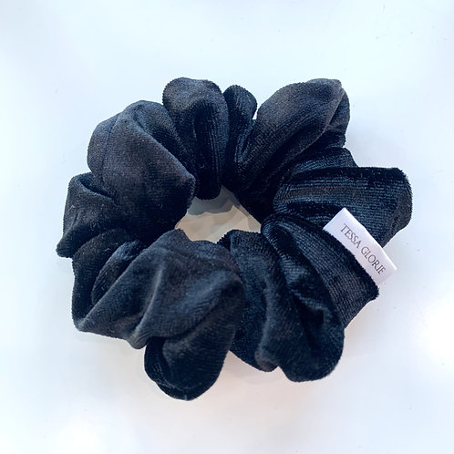 Tessa Glorie Black Velvet Scrunchie
