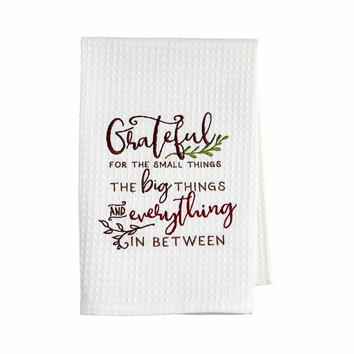 Mudpie Grateful Waffle Tea Towel