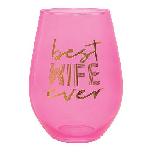 Jumbo Wine Glass-Best Wife Ever