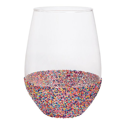 Jumbo Wine Glass-Sprinkle Dip