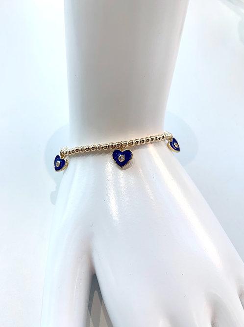 Jocelyn Kennedy Heart With Crystal Charm Bracelet