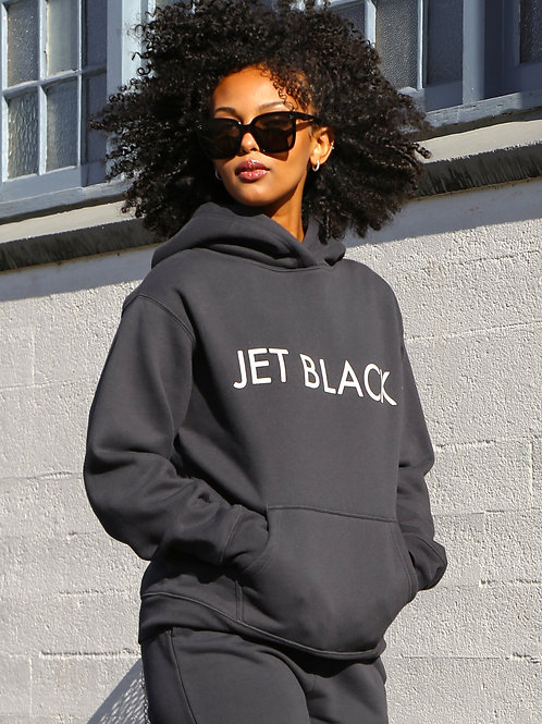 Brunette The Label The Jet Black Classic Hoodie Charcoal